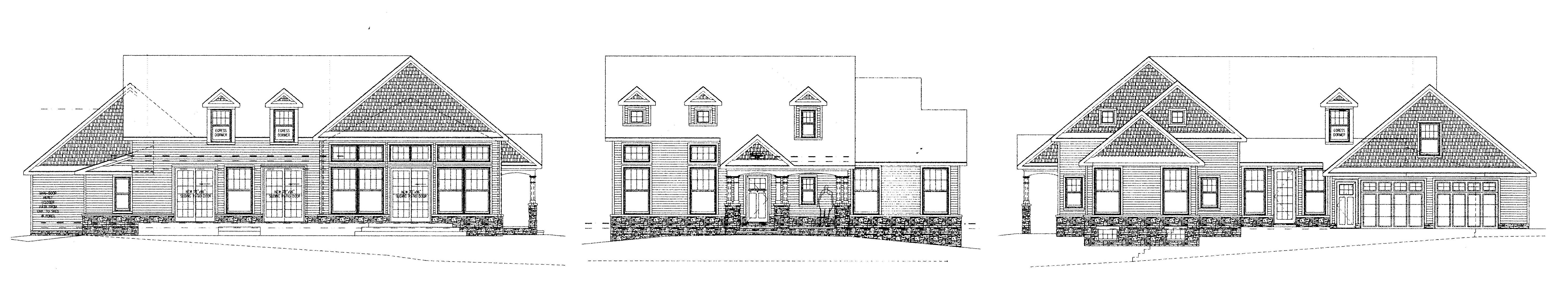 Front Elevation Materials : Copy of new residence hinckley ohio